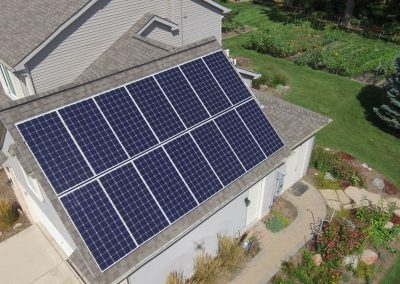 Roof Mounted Solar Energy Panels
