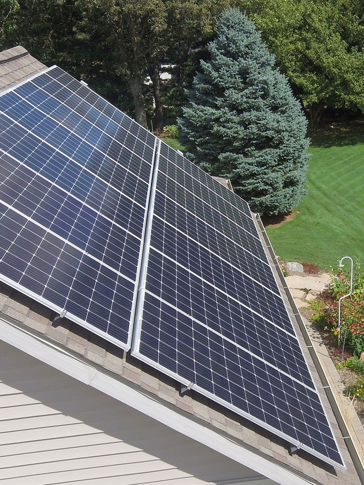 Solar Panels Installed on Roof Top by Absolute Environmental Solutions